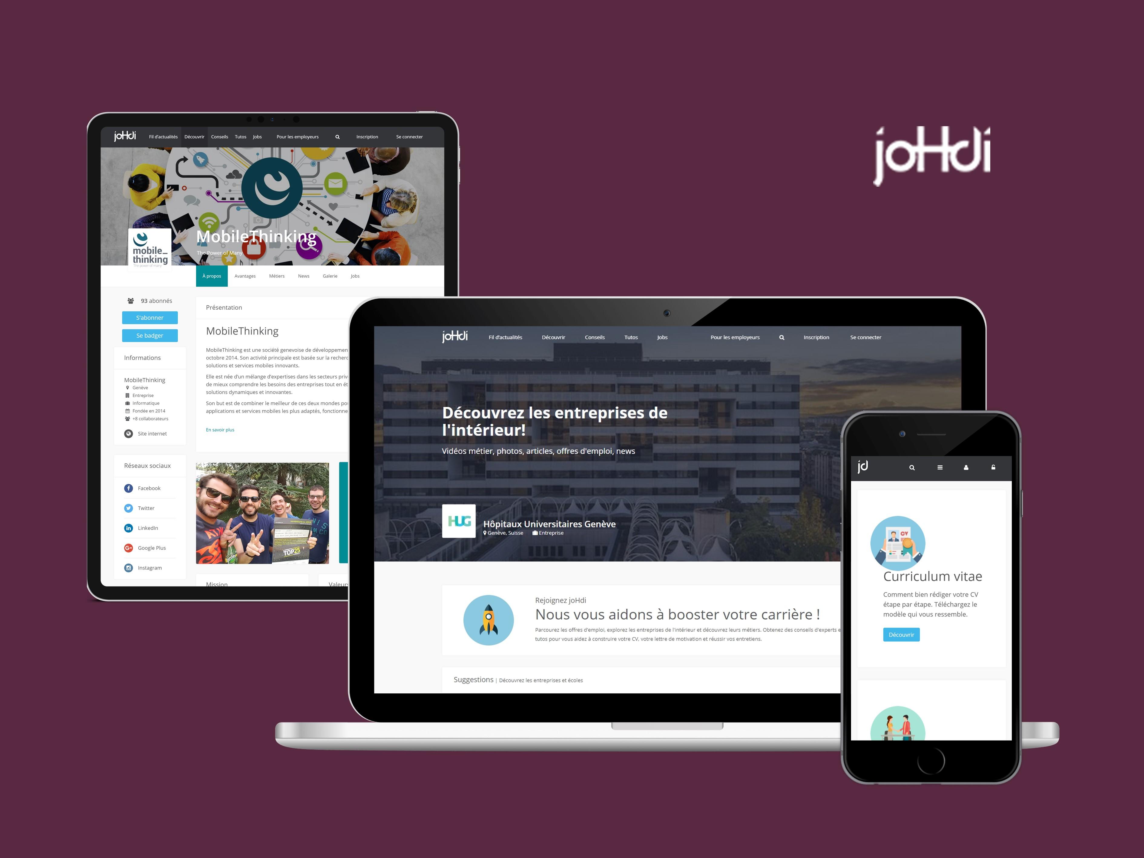 Johdi Application Web de recherche d'emplois