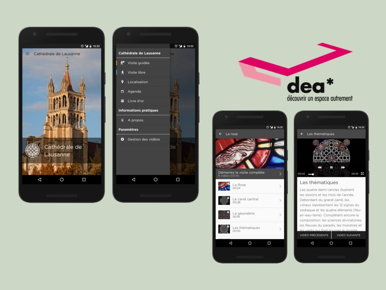 dea* Cathedrale de Lausanne, application mobile - screenshot