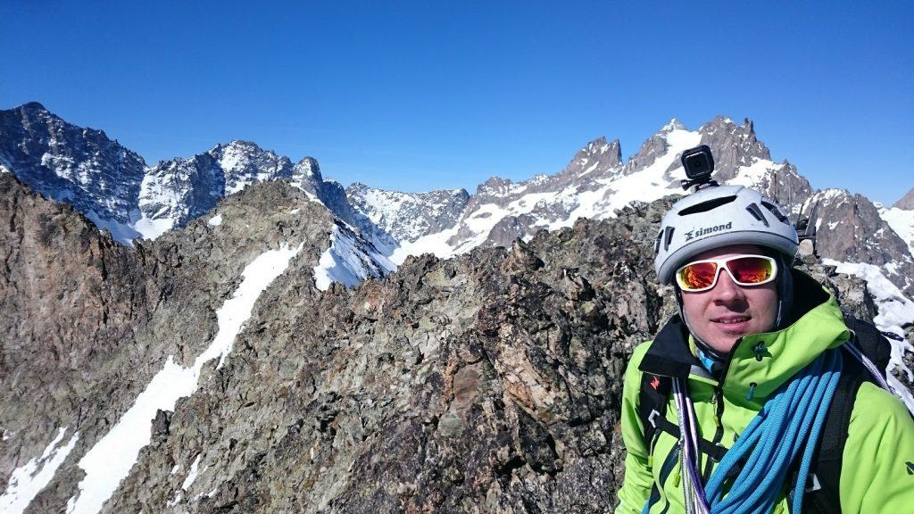 Jérôme au sommet de la montagne