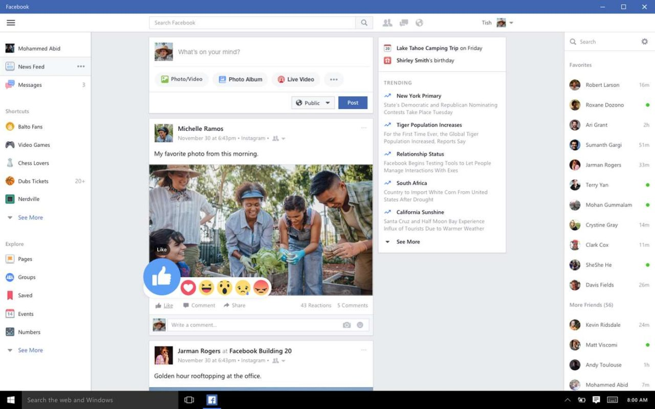screenshot facebook_2018 version
