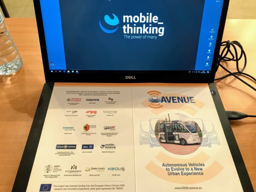 Avenue h2020 MobileThinking Autonomous Vehicle