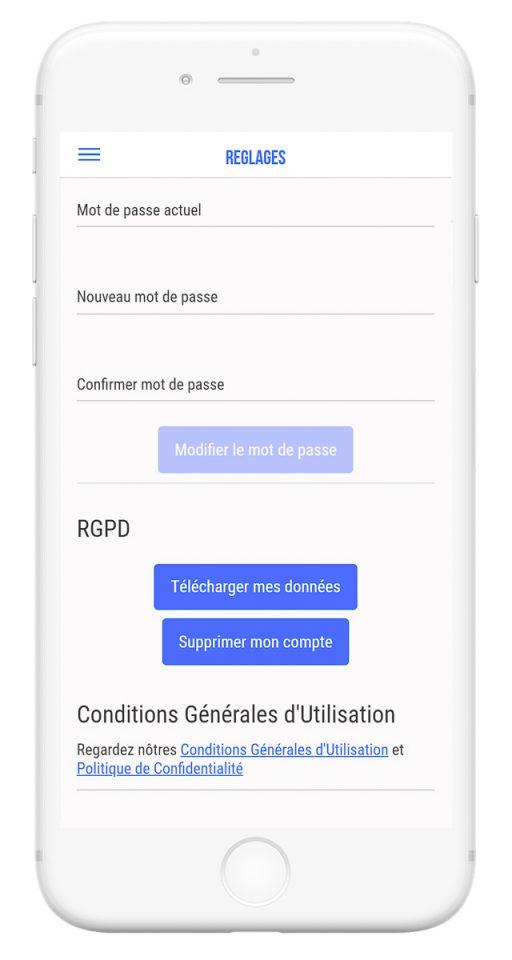 Outils de gestion et diffusion de vos événements professionnels - app mobile RGPD