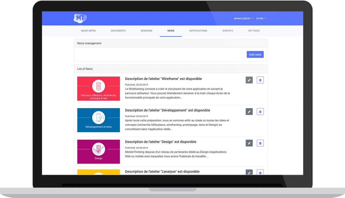 Outils de gestion et diffusion de vos événements professionnels - Diffusion d'actualités