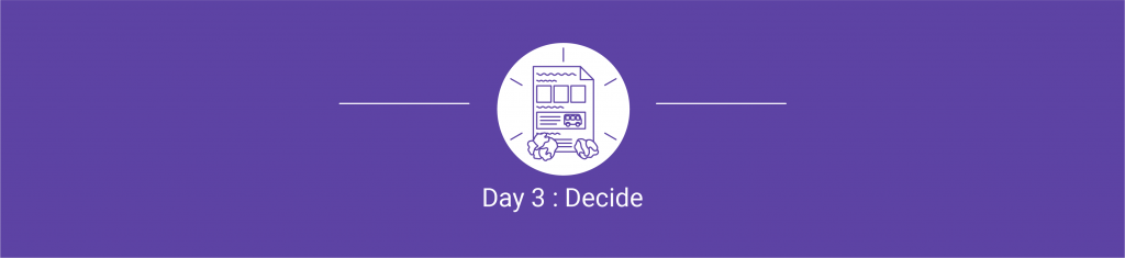Day 3 Decide - Design Sprint - A proven use case