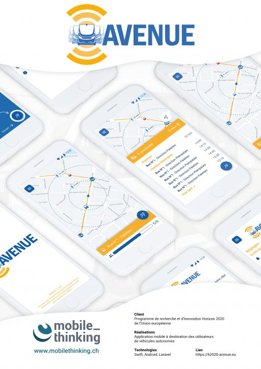 Affiche MobileThinking - Projet Application mobile AVENUE