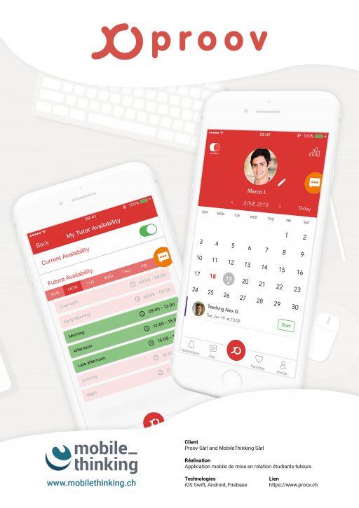 Affiche MobileThinking - Projet Application mobile Proov