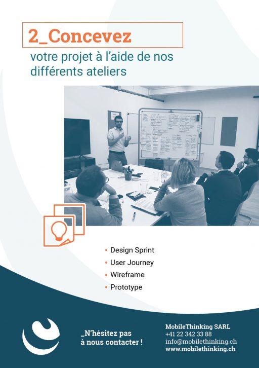 Flyer MobileThinking - Service Concevez avec nos atelier et Design Sprint
