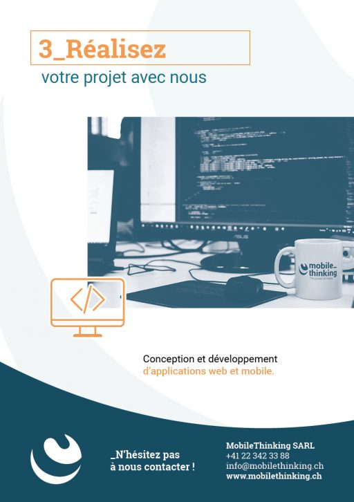 Flyer MobileThinking - Service Réaliser en nous confiant le développement de votre projet