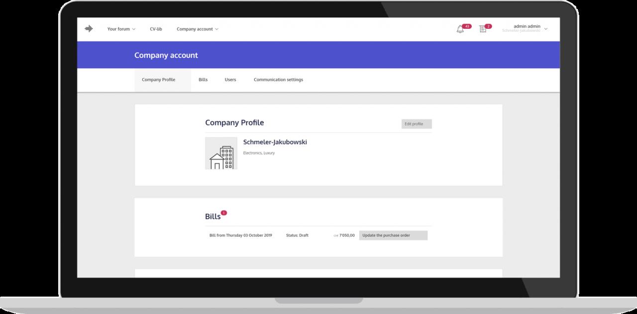 Forum EPFL - Compte entreprise - Laravel Vuejs