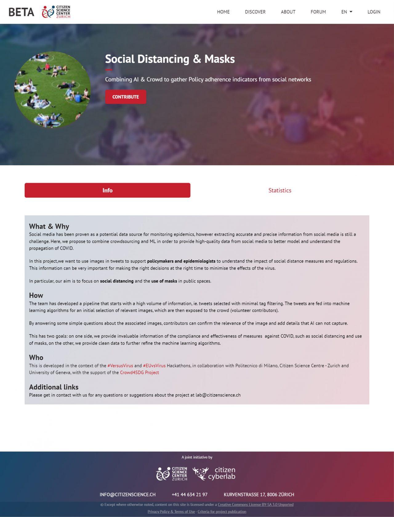 lab.citizenscience.ch Projects description page